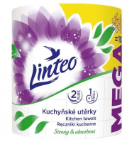 Linteo Kuchyňské utěrky Mega bílé 2vrtsvé 1role