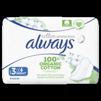 Always Cotton Protection Ultra Night (Velikost 3) Vložky S Křidélky 9ks