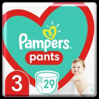 Plenkové Kalhotky Pampers Pants Velikost 3 X29ks, 6-11kg