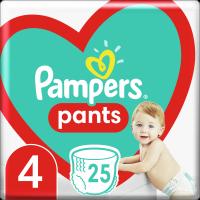 Plenkové Kalhotky Pampers Pants Velikost 4 X25ks, 9-15kg
