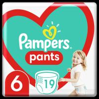 Plenkové Kalhotky Pampers Pants Velikost 6 X19ks, 15kg+