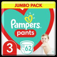 Plenkové Kalhotky Pampers Pants Velikost 3 X62ks, 6-11kg