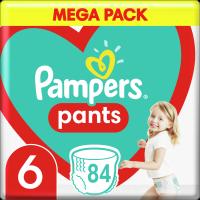Plenkové Kalhotky Pampers Pants Velikost 6 X84ks, 15kg+