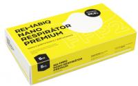 České nano respirátory Rehabiq Premium FFP2 s účinností 12 hodin 5 kusů