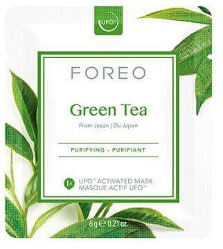 Foreo Plátýnková maska Green Tea 3x6g