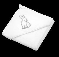 BabyOno Osuška s kapucí Velour 76x76, white