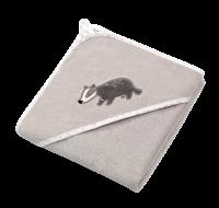 BabyOno Osuška s kapucí Velour 76x76, grey