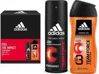 Adidas dárková sada FEEL THE IMPACT, Team force 2ks