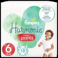 Plenkové Kalhotky Pampers Pants Harmonie Velikost 6, 18ks