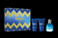 Missoni Wave Set Eau de Toilette 50ml + After Shave Balm 50ml + Bath&Shower Gel 50ml