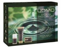 Erboristica Kosmetická sada pro muže UOMO- Pleťový krém proti vráskám 50ml + Sprchový gel a šampon200 ml + Tuhé mýdlo 12