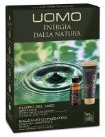 Erboristica UOMO Kosmetická sada pro muže - Pleťový hydratační keratinový gel 30ml + Balzám po holení 100ml