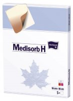 Medisorb H 10x10cm 5ks hydrokoloidní krytí steril.