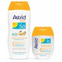 ASTRID SUN dětské opal.mléko SPF50 200ml+SPF15 80ml