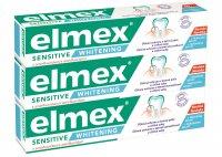 Elmex Bělicí zubní pasta pro citlivé zuby Sensitive Whitening 3x75ml