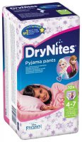 Plenkové kalhotky Dry Nites pro děvčata s váhou 17-30kg 10ks