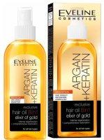 Eveline Argan + Keratin - olej na vlasy 8v1 150ml - Eveline Cosmetics Argan vlasový olej 8v1 150 ml