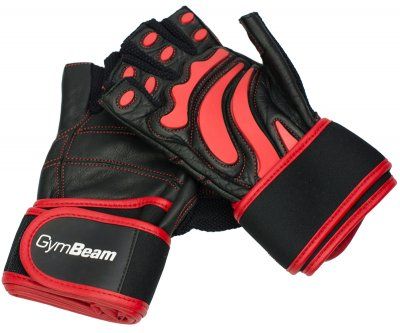 Fitness Rukavice Arnold – GymBeam black red – velikost L