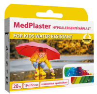 MedPlaster Náplast KIDS water resistant 19x72mm 20ks
