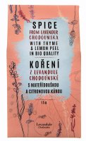 Koření z mateřídoušky, citronové trávy a Levandule Chodouňské v BIO kvalitě 15g