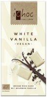 iChoc Bio bílá čokoláda s vanilkou 80g