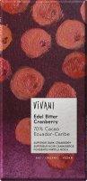 Vivani Bio EG hořká čokoláda s brusinkami 100g