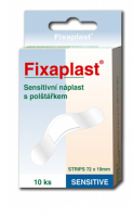 Náplast Fixaplast Sensitive Strip 72x19mm 10ks