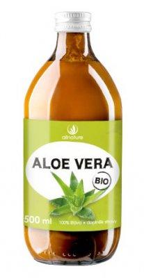 Allnature Aloe Vera BIO 100% šťáva 500ml - Allnature Aloe Vera Bio šťáva 500 ml