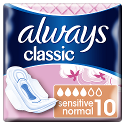Always vložky Classic Normal Sensitive 10ks