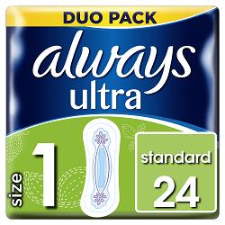 Always vložky Ultra Standard Duo 24ks