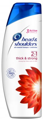 Head & Shoulders šampón 2v1 Thick & Strong 360ml