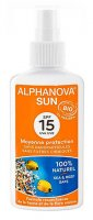 Alphanova Sun opalovací krém spray SPF15 125 ml