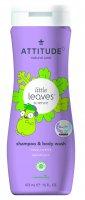 ATTITUDE Dětské tělové mýdlo a šampon (2v1) Little leaves s vůní vanilky a hrušky 473 ml