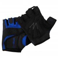 Fitness rukavice Dexter GymBeam – black blue – velikost S
