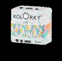 Kolorky DAY - štětce - XL (12-16 kg) jednorázové eko plenky 17ks
