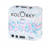 Kolorky DAY - pruhy - XL (12-16 kg) jednorázové eko plenky 17ks