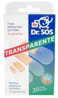 Náplasti Dr.SOS TransparEnterosolventní měkká voděodolné elastické mix 20 ks