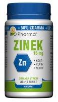 BIO Pharma Zinek 15mg 30+15 tablet