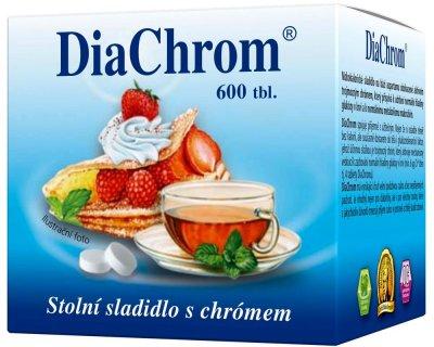 DiaChrom nízkokalorické sladidlo tbl 600 ks