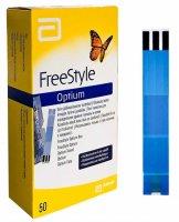 FreeStyle Optium testovací proužky 50ks - Abbot FreeStyle Optium testovací proužky 50 ks