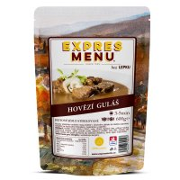 EXPRES MENU Hovězí guláš 2 porce - Expres Menu Hovězí guláš 600 g