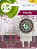 Airwick Electric komplet Jemný satén a měsíční lilie 19ml