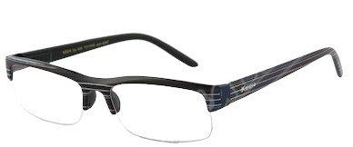 American Way Brýle čtecí +2.50 černé s pruhy a pouzdrem