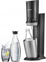 SodaStream Crystal Black/Metal výrobník vody soda