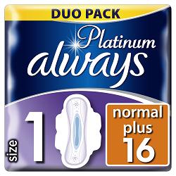 Always vložky Ultra Platinum Normal Duo 16ks
