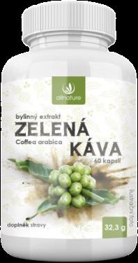 Allnature Zelená káva bylinný extrakt 60kapslí