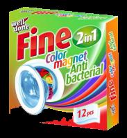 Antibakteriální ubrousky do pračky pohlcující barvu 12ks