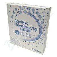 Aqvitox Flowfiber Ag 10x10cm antimikrobiální 10ks
