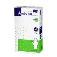 Ambulex nitrilové jednorázové rukavice M 100ks