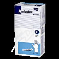 Ambulex nitrilové jednorázové rukavice L 100ks